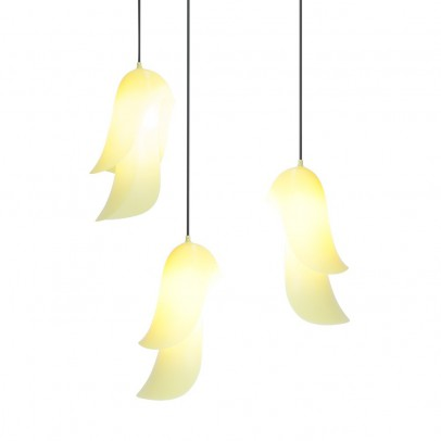 Moustache Cape suspended lamp - yellow-listing
