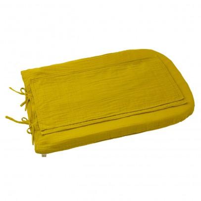 Numero 74 Fodera materasso fasciatoio tondo - Giallo girasole-listing