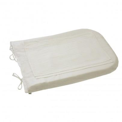 Numero 74 Funda de colchón de cambiado redondo - Blanco -listing
