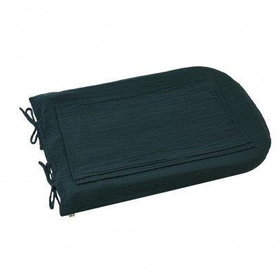 Numero 74 Round changing mat cover - petrol blue-product
