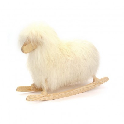 Danish Crafts-Povl Kjer Mouton à bascule  - Blanc-listing