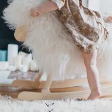 Danish Crafts-Povl Kjer Pecora a dondolo - Bianco-listing