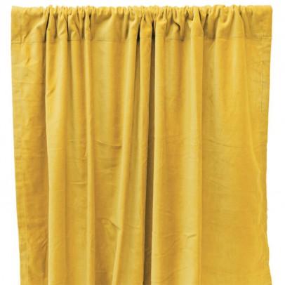 Liv Interior Cortina opaca en terciopelo de algodón - Amarillo-listing