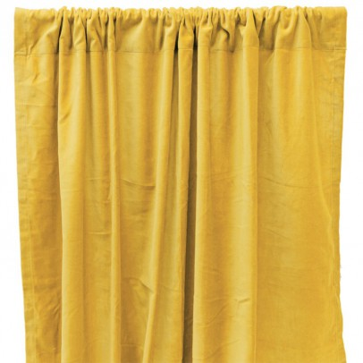 Liv Interior Velvet cotton black out curtain - yellow-listing