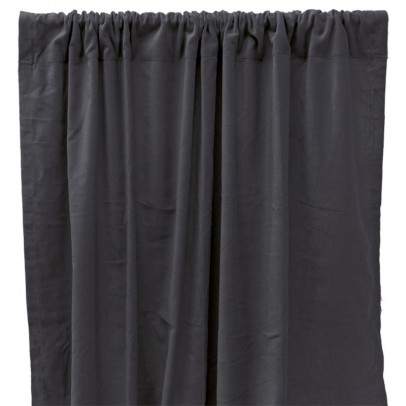Liv Interior Tenda oscurante in velluto di cotone - Grigio-listing