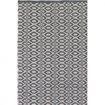 Liv Interior Bergen Teppich aus Baumwolle- grau -listing