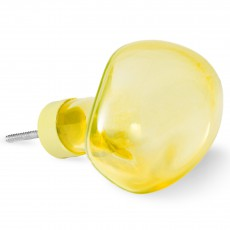 Petite friture Bubble small glass hook - Yellow-listing