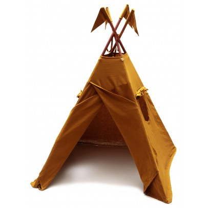 Numero 74 Cotton teepee - mustard yellow-listing