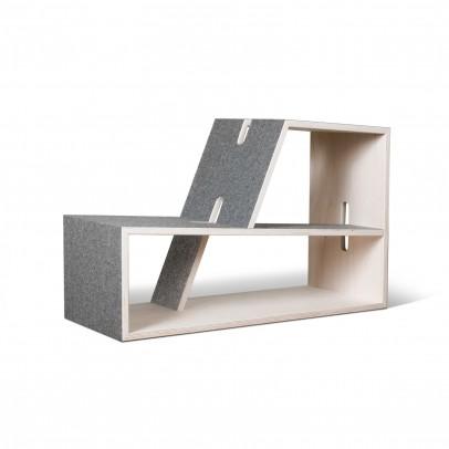 Perludi Pauli bookshelf - grey-listing
