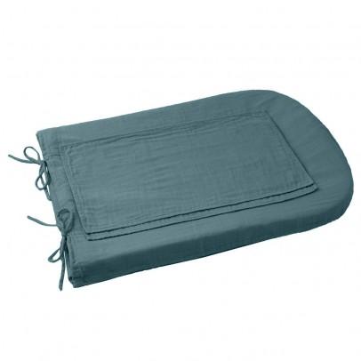 Numero 74 Funda de colchón de cambiado redondo - Azul grisáceo-product