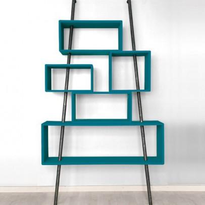 Laurette 'La folie' shelving unit - canary blue-listing