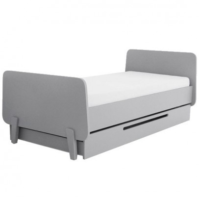 Laurette MM trundle bed - light grey-listing