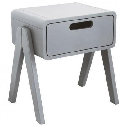 Laurette Little Robot bedside table - light grey-listing