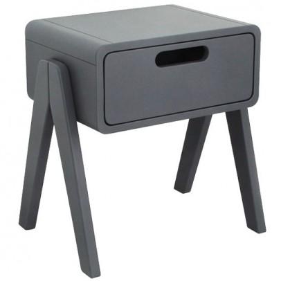 Laurette Little Robot bedside table - dark grey-listing