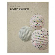 Meri Meri Boules en papier décoratives à pois-listing