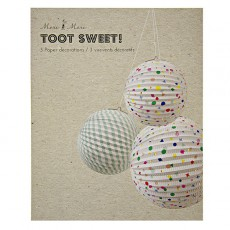 Meri Meri Charms and stripes paper balls-product