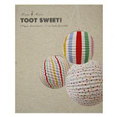 Meri Meri Boules en papier décoratives à rayures-listing