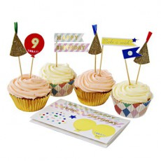 Meri Meri Harlequin Stickers, Cupcake Cases & Decorations-product