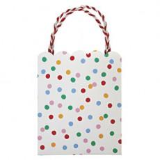 Meri Meri Sacs cadeaux pois multicolores - Lot de 8-listing