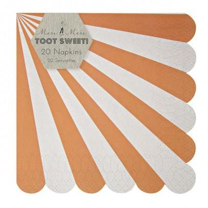 Meri Meri Toot Sweet Paper serviettes - coral stripes set of 20-listing