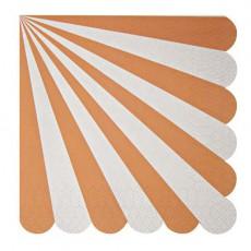 Meri Meri Set de 20 servilletas de papel - Rayas coral-listing