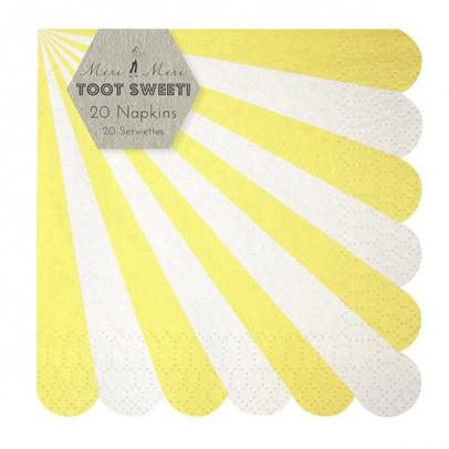 Meri Meri Set de 20 servilletas de papel - Rayas amarillas-listing