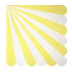 Meri Meri Toot Sweet Paper serviettes - yellow stripes set of 20-listing
