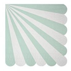 Meri Meri Set de 20 servilletas de papel - Rayas verde agua-listing