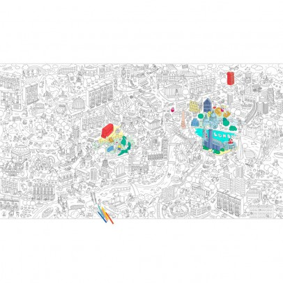 Omy Póster gigante Londres para colorear-product