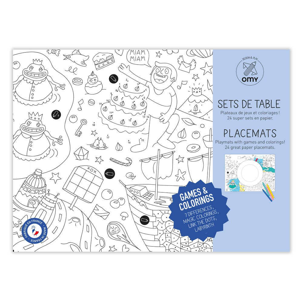 Table set to colour in - Games-product