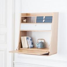 Hartô Wand-Schreibtisch Gaston-schiefergrau und hellgrau -listing