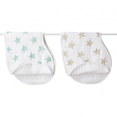 aden + anais  Shoulder bibs pastel stars - set of 2-listing