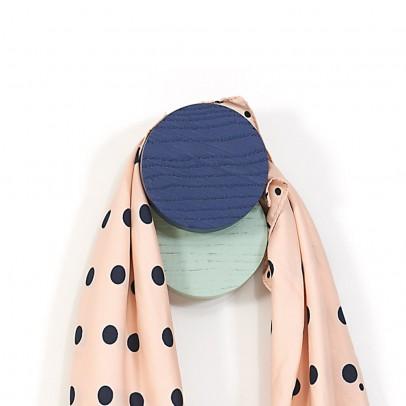 Hartô Patère Lou - Bleu marine et vert pâle-listing