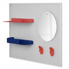 Hartô Alfred wall tidy - coral and navy blue -listing