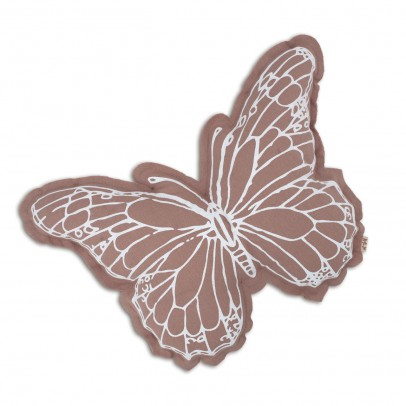 Numero 74 Butterfly cushion - white and dusky pink-product
