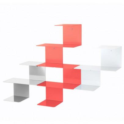 Hartô Linette shelves - coral and light grey-listing