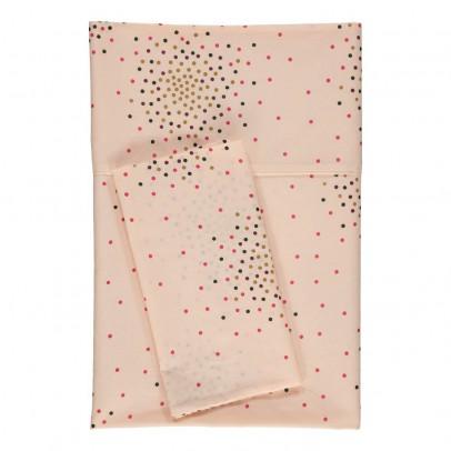 April Showers Set de cama Vainilla - Estampado de lunares-listing