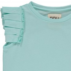 Douuod Shiny pleated T-Shirt-listing