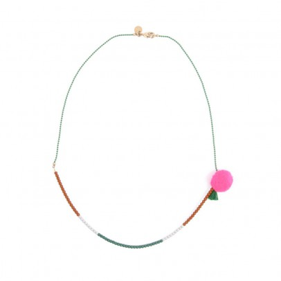 April Showers Pompom three colour necklace-listing