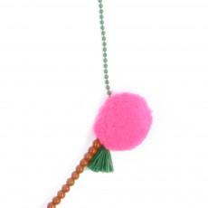 April Showers Bommel-Halskette dreifarbig -listing