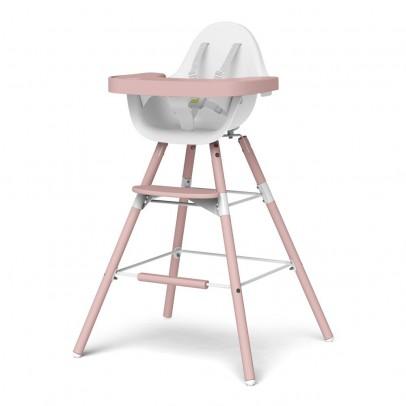 Childwood Chaise haute évolutive Evolu - Blanc/poudre-listing