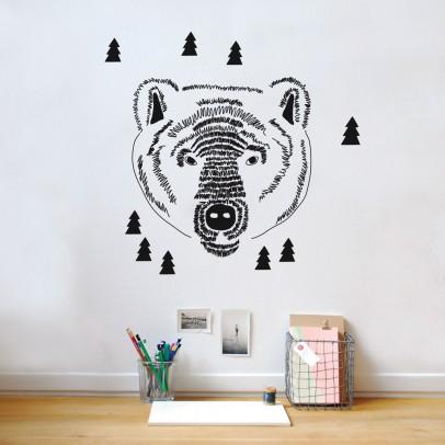 MIMI'lou Bear Head Sticker-listing