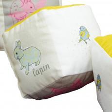 MIMI'lou Cube en coton avec grelot-listing
