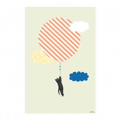 MIMI'lou Flying Cat Poster-listing