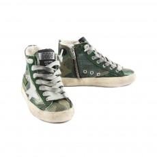 Golden Goose Sneaker Camouflage Metal Zip Francy-listing