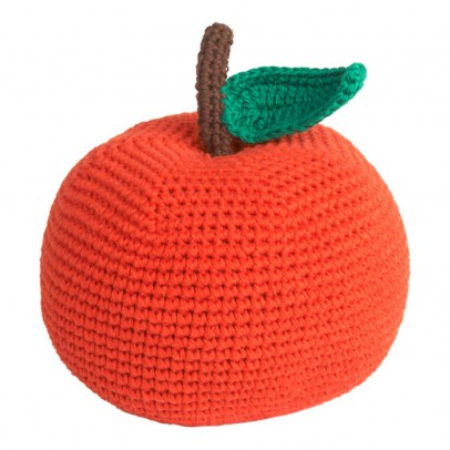 Anne-Claire Petit Organic Cotton Crochet Apple Soft Toy - 14cm-product