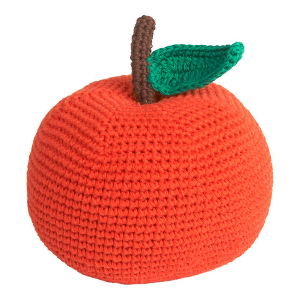 Organic Cotton Crochet Apple Soft Toy - 14cm-product