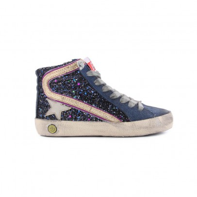Golden Goose Baskets Glitter Zip Slide-listing