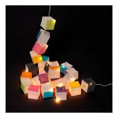 Tse & Tse Guirlande new cubiste 25 LED Multicolore-listing