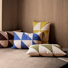 Ferm Living Twin Triangle cushion - blue - 60x40 cm-product